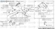 80512M - rod, front door inside handle RH - BNR32 Nissan Skyline GT-R
