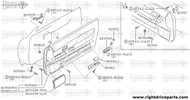 80950M - handle, pull front door - BNR32 Nissan Skyline GT-R