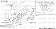 80957 - bracket, front door grip LH - BNR32 Nissan Skyline GT-R
