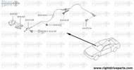 84442 - cover assembly, trunk lid opener - BNR32 Nissan Skyline GT-R