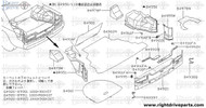 84900 - finisher assembly, trunk front - BNR32 Nissan Skyline GT-R