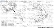 84993 - plate, trunk rear LH - BNR32 Nissan Skyline GT-R