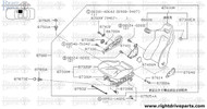 87406MA - cover, reclining device inner - BNR32 Nissan Skyline GT-R