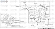 88620L - trim & pad assembly, rear seat back - BNR32 Nissan Skyline GT-R