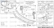 96043M - bracket, rear air spoiler LH - BNR32 Nissan Skyline GT-R