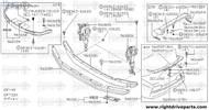 96080N - mounting assembly, front air spoiler RH - BNR32 Nissan Skyline GT-R