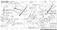 80290 - cover, front door corner outer RH - BNR32 Nissan Skyline GT-R