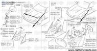 80292 - cover, front door corner inner RH - BNR32 Nissan Skyline GT-R