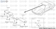 96401 - sun visor assembly,LH - BNR32 Nissan Skyline GT-R