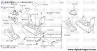 96512P - bracket, ashtray console - BNR32 Nissan Skyline GT-R
