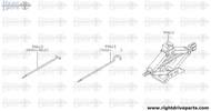 99610 - jack, pantograph type - BNR32 Nissan Skyline GT-R