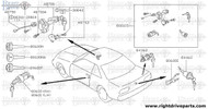 80600 - cylinder set, door lock RH - BNR32 Nissan Skyline GT-R