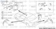80600E - clip, retaining cylinder lock - BNR32 Nissan Skyline GT-R