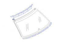 Molding - Rear Glass - GC8 Subaru Impreza WRX STI