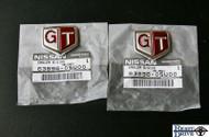 "Nissan Skyline GT-R ""GT"" Emblem Set"