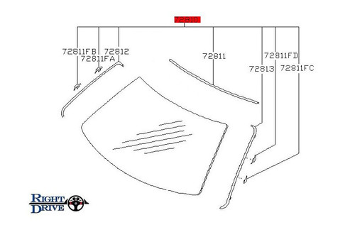 nissan skyline windshield moulding kit