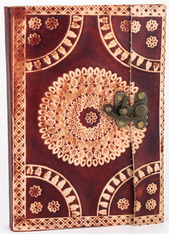 Large Tribal Batik Embossed Travel Journal