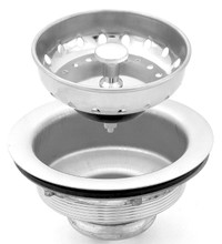 Chrome Sink Stainer & Basket with Stainless Steel Body