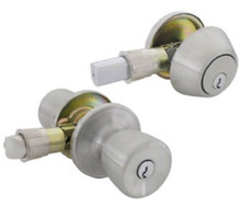 Stainless Steel Exterior Lock and Deadbolt Set