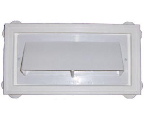 Ventline White Exterior Sidewall Range Hood Vent For Lap Siding