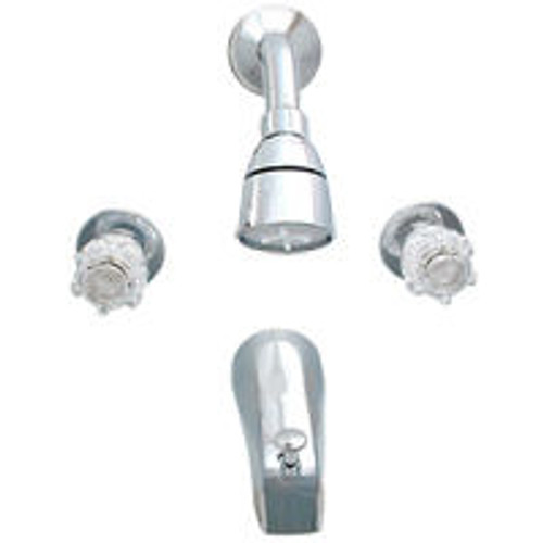 "Empire 8"" 2 Valve Chrome Tub & Shower Faucet"
