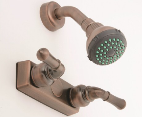 "Empire 4"" Oil Rubbed Bronze Shower Faucet with Lever Handles"