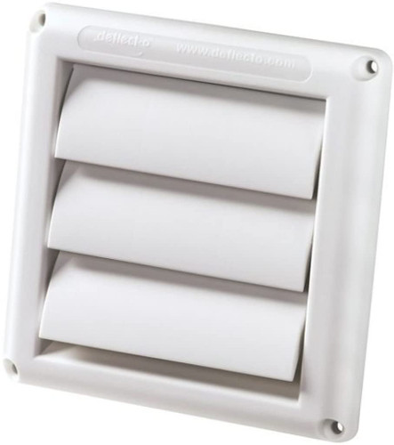"Dryer 4"" White Vinyl Vent Cover"