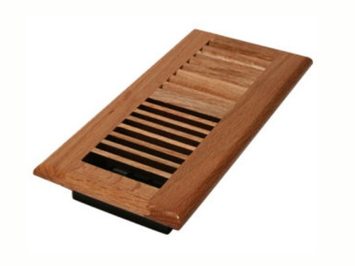 "Decor Grates 4"" x 8"" Natural Oak Floor Register"