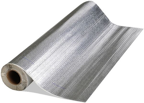 "Peel & Seal 6"" x 33.5' Aluminum Self-Sticking Roll Roofing"