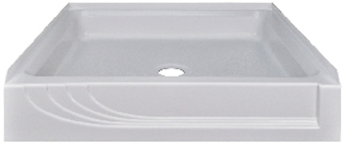 "Better Bath 32"" x 32"" White ABS Plastic Shower Pan"