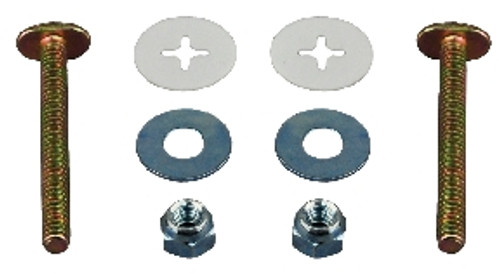 Toilet Hold Down Fasteners with Nuts and Washers Set