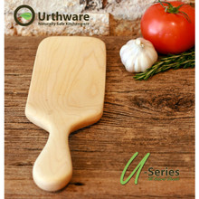 Urthware hard maple hand crafted spurtle made in Canada with organic safe finishes