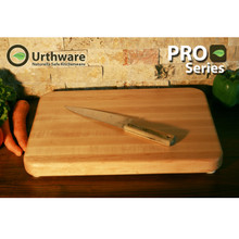 Pro series large maple cutting board by Urthware
