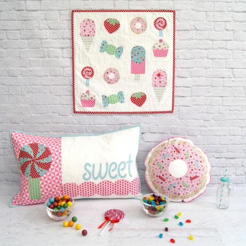 Sweet Treats Mini Quilt/Cushion Set