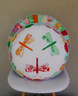 Dragonfly Appliqué and Sprocket Round Cushion Set
