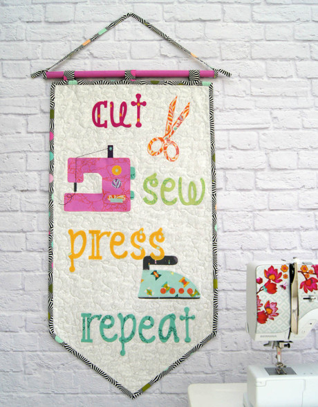 A great fun Pennant or Mini Quilt to jazz up your sewing space