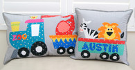 Fun Applique Zoo Cushion