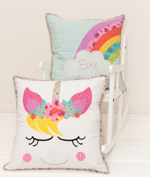 Spring around some Unicorn magic with this sweet Pillow set