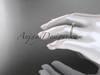 "14k rose gold diamond vine and leaf wedding ring, engagement ring  with  ""Forever One"" Moissanite center stone ADLR38"