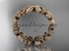 14kt rose gold  celtic trinity knot matte finish wedding band, engagement ring CT7347G