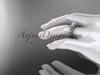 14kt rose gold celtic trinity knot engagement ring ,diamond wedding ring CT7108
