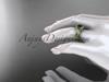 14kt yellow gold celtic trinity knot engagement ring ,diamond wedding ring with  Black Diamond center stone CT785