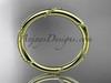 14k yellow gold engagement ring, wedding band ADLR502G