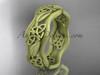 14kt yellow gold celtic trinity knot wedding band, matte finish wedding band, engagement ring CT7504G