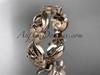 14kt rose gold flower wedding ring, engagement ring, wedding band ADLR191G
