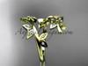 14k yellow gold diamond leaf and vine wedding ring,engagement ring,wedding band ADLR27