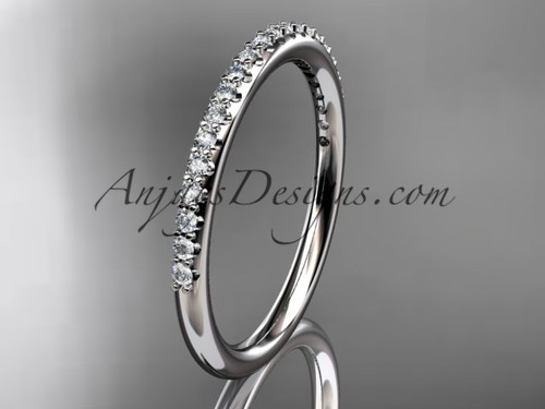 14k white gold diamond unique wedding ring, engagement ring, wedding band, stacking ring ADER103B