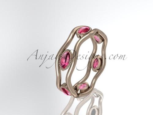 14k rose gold beautiful wedding ring,engagement band ADLR22