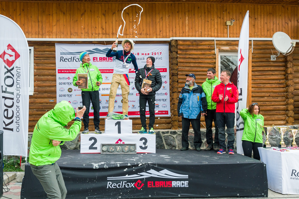Awarding ceremony of Red Fox Elbrus Race 2017