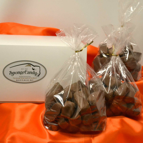 1 1/2  lbs  box of Sponge Candy choose from 1/2 lb and 1 lb bags